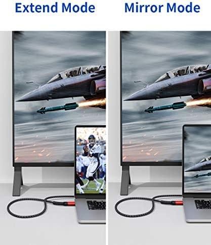 JSAUX Cable Displayport a HDMI [3M] Duradero Cable DP a HDMI Hombre a Hombre Trenzado Nylon con Conector Chapado en Oro para PC/HDTV/Portátil/Proyector/Monitor/DELL/HP y Más-Rojo: Amazon.es: Electrónica