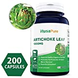 Best Artichoke Extract 1000mg 200 caps (Non-GMO & Gluten Free) Cynara Scolymus Leaf - Healthy Weight Management, Digestive Health & Antioxidant Protection - Made in USA - 100% Money Back Guarantee!