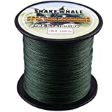 Shake Whale 100-Percent PE Good Quality Briad Braided Fishing Line Green 50LB 500Yds Yards For Sale