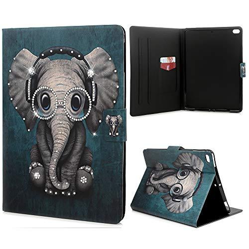 (Mavis's Diary IPAD Air 2 Case, Fashion Design Shiny Gemstone Rhinestone Transparent Colorful Painted Shockproof Silicone TPU Rubber Cover Body Slim Cover forIPAD air/air2 /IPAD 9.7inch - Elephant)