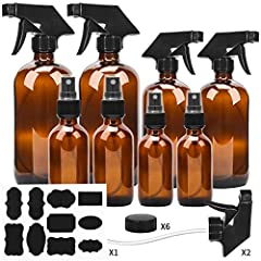 ★Package Included: 2 * 16oz Glass Spray Bottle 2 * 8oz Glass Spray Bottle 2 * 4oz Glass Mist Spray Bottle with Mist Sprayer 2 * 2oz Glass Mist Spray Bottle with Mist Sprayer 3 * 16oz Trigger Sprayer& Lids 3 * 8oz Trigger Sprayer& Lids...