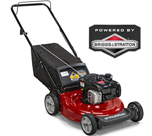 Murray 21' Gas Push Lawn Mower with Side Discharge, Mulching, Rear Bag and Rear High Wheel