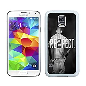 Beautiful Designed Cover Case For Samsung Galaxy S5 I9600 G900a G900v G900p G900t G900w With Derek Jeter RE2PECT New Fashion York Yankees White Phone Case