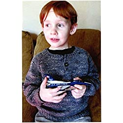 Knitting Pure & Simple Knitting Pattern #111 - Children's Henley Top Down Pullover, Easy Knit