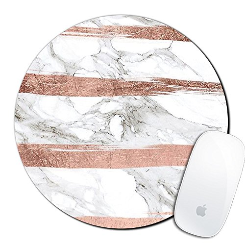Royal Up Marble Pattern Custom Mouse Pad Gaming Mat Keyboard Pad Waterproof Material Non-slip Personalized Round Mouse pad (7.8x7.8x0.08Inch)