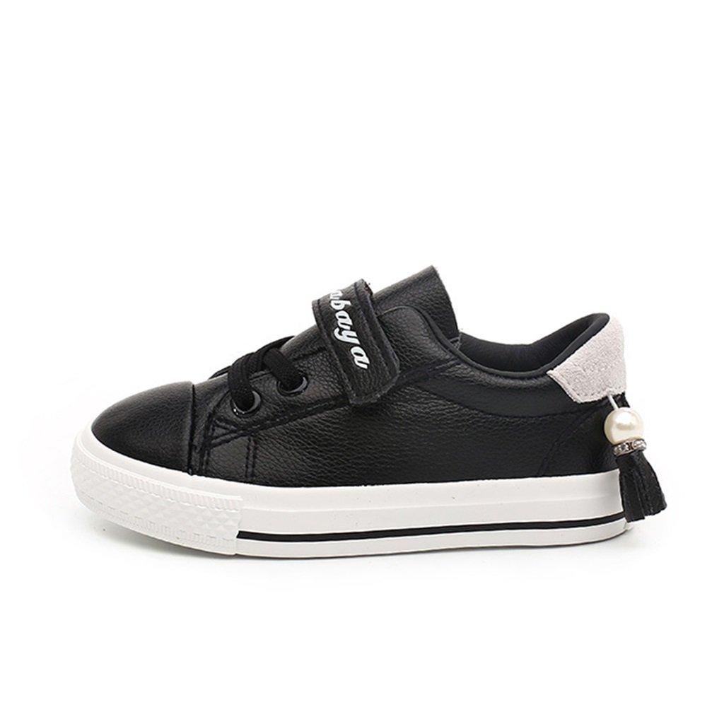 ALUK- Chaussures pour enfants - Chaussures de bébé de printemps et d'automne Chaussures de sport occasionnelles et respirantes ( Couleur : Noir , taille : 24-foot length 16cm )