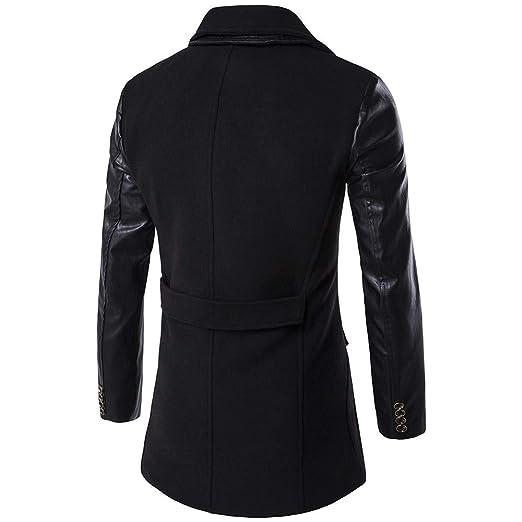 ZODOF Chaqueta Slim para Hombre Chaqueta de los Hombres cálido Invierno Trinchera Largo Outwear botón Elegante Abrigo: Amazon.es: Ropa y accesorios