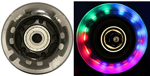 TGM Skateboards Led Inline Wheels 64Mm 82A Skate Rollerblade Ripstik Light...