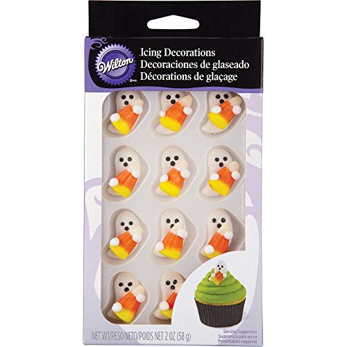 Wilton 710-0131 Halloween Royal Icing Decorations with Candy Corn -