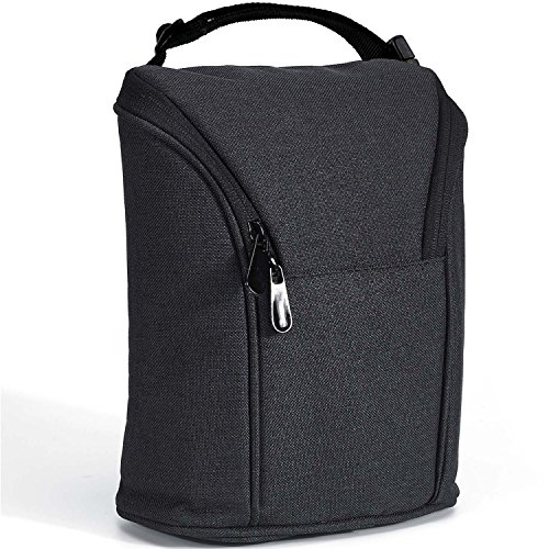 Breast Milk Baby Double Bottle Bag, Insulated Cooler Tote Keep Breast Milk Cold or Warm for Women,Men, and Kids (black) by Sanne