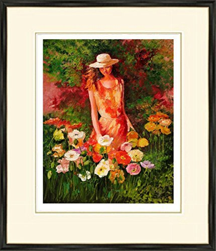 """Girl with Poppies"" – Limited Edition Print 09/100, Signed and Numbered By Y. Dluhos by YARY DLUHOS"