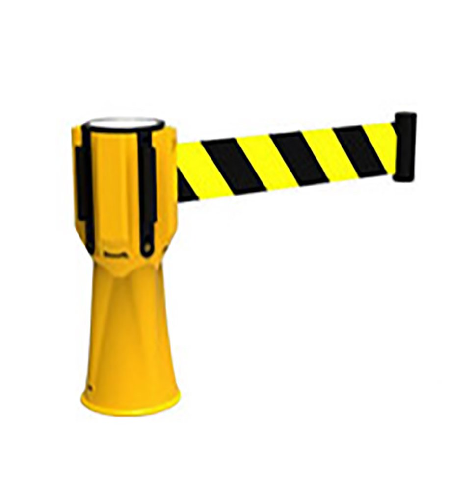 Yellow 03-828YCT Cortina Retractable Cone Topper Barrier