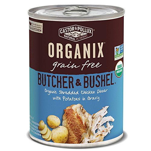 Butcher & Bushel Grain Free Organic Shredded Chicken Dinner With Potatoes In Gravy Wet Dog Food, 12.7 Oz, Case Of 12