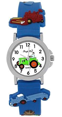 Armbanduhr kinder blau  Pacific Time Kinder-Armbanduhr silberne Zeiger Kinderuhr Jungs ...