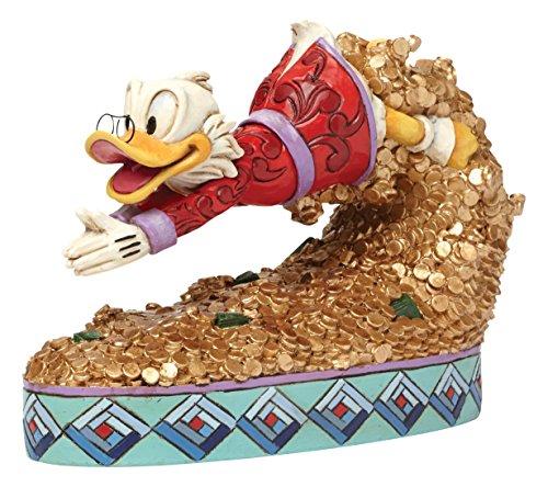(Enesco Jim Shore Disney Treasure Dive Scrooge McDuck Diving into Money Figurine 4046055)