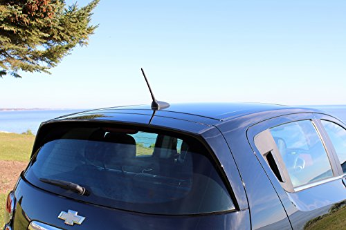 1985-2005 Spring Steel Construction 7 Black Short Antenna is Compatible with GMC Sierra 1500 AntennaMastsRus - Spiral Wind Noise Cancellation