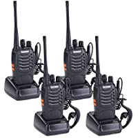 YA MI BaoFeng BF-888S Rechargeable Long Range 5W Walkie Talkies 16 Channels two way radios (4 pack of radios)