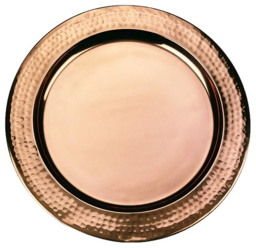 Old Dutch 13 Round Décor Copper Charger Plate 866