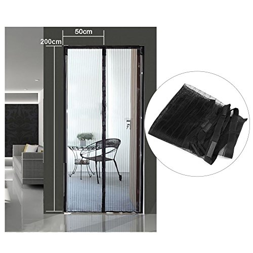 Hands Free Magic Mesh Screen Net Door With Magnets Anti Mosquito Bug Curtain Black