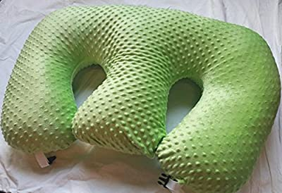 THE TWIN Z PILLOW- GREEN -The Only 6 in 1 Twin Pillow Breastfeeding, Bottlefeeding, Tummy Time & Support! A Must Have for Twins! - LIME GREEN