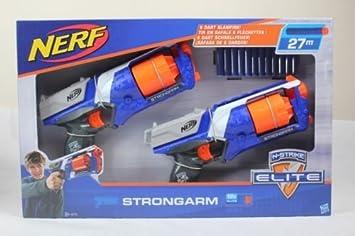 Nerf N-Strike Elite Strongarm Gun - Blaster Toy Twin Pack With Darts Pack de 2 pistolas y 12 dardos: Amazon.es: Juguetes y juegos
