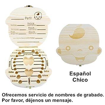 Espanol English Baby Teeth Box Organizer Save Milk ... - Amazon.com