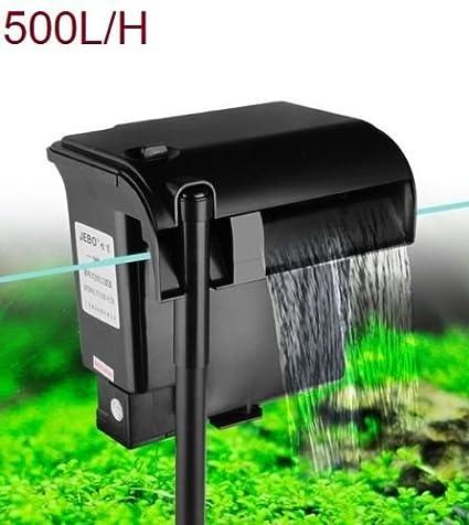 RESTAR Filtro bomba para acuario pecera oxigenador de agua exterior, 500 L/H 3 en 1: Amazon.es: Productos para mascotas