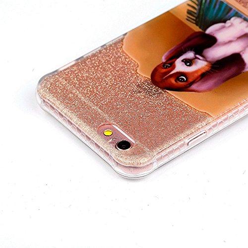 Flash Powder IMD Soft TPU Cell Phone Tasche Hüllen Schutzhülle Case für iPhone 6s 6 - Cute Dog