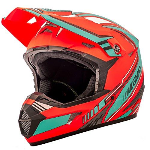Teal Motorcycle Helmet - 7