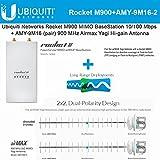 Ubiquiti RocketM900 MIMO airMAX + AMY-9M16-2 900 MHz YAGI Antenna