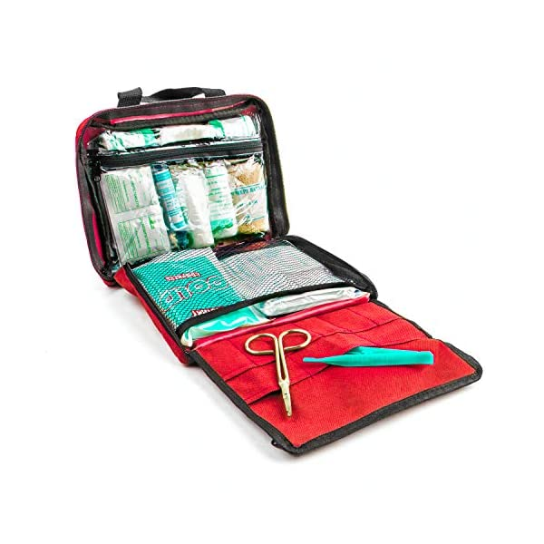 51Sr7qFUASL Erste Hilfe Set - 90-teiliges Premium Erste-Hilfe-Set - enthält Sofort Kühlpacks, Augenspülung, Rettungsdecke für zu…