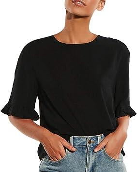 Costura Color de ContrasteTops Deportivo Mujer Ronamick Botones Camisetas Tirantes Mujer Blusa Negra Mujer Botones Camisa Blanca Mujer(Negro,XL): Amazon.es: Iluminación