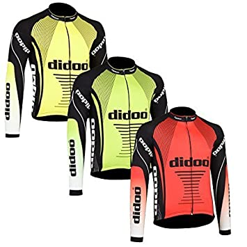 Jersey Homme Thermal Manche Usure Cyclisme Haut Didoo Froid Long PO8nkX0w