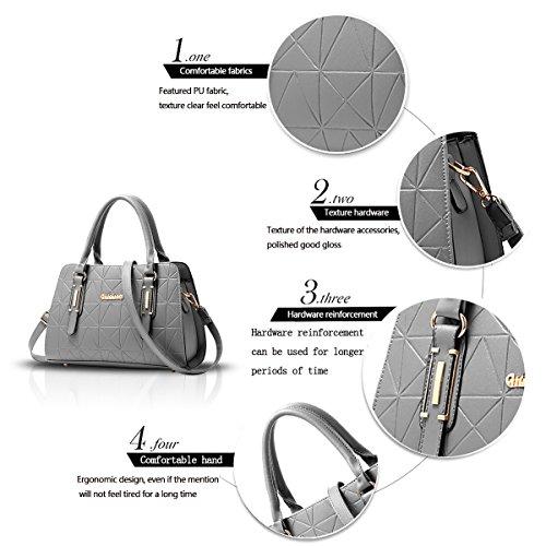 Sdinaz New women handbag wild shoulder Messenger bag leisure work package gray q8xfZraR8