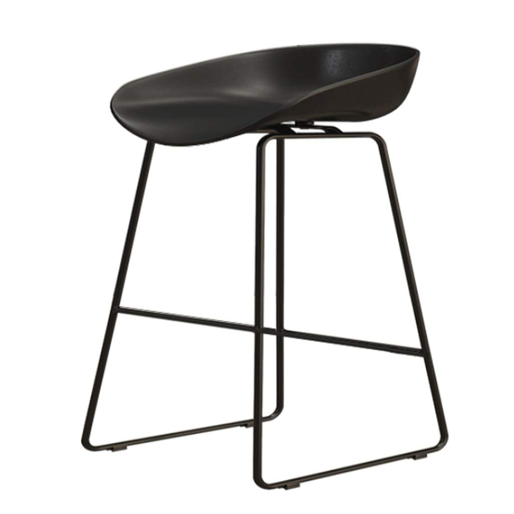 C Sitting height 45CM Iron High Stool Bar Chair Restaurant Counter Chair Cafe Metal Chair Modern Minimalist Home backrest high Chair (color   C, Size   Sitting Height 45CM)
