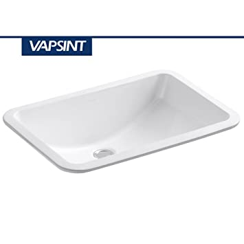 Ordinaire VAPSINT Ceramic Counter Rectangle Vessel Vanity Bathroom Sink, White