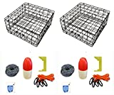 2-Pack of KUFA Vinyl Coated crab trap & accessory kit