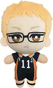 Haikyuu Plush Toy Karasuno Shoyo Hinata/Tobio Kageyama/Kei Tsukishima Cosplay Stuffed Figure Doll Pillow for Home Decor