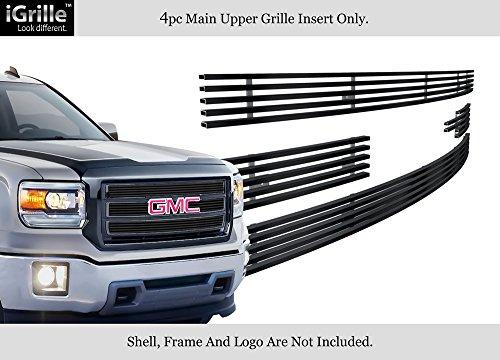 - APS for 2014-2015 GMC Sierra 1500 Reg Model Stainless Steel Black Billet Grille #N19-J27956G