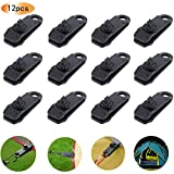12pcs Tarp Clips, Heavy Duty Lock Grip Clamps Thumb Screw Tent Clip Awning Clamp Set Trap Clips Jaw Tent Snaps Tarps Canopies and Covers Locking Clamp Design for Outdoors Camping Farming Garden Tarps