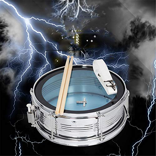 MG.QING Professional Snare Drum, Student Band, Military Drum Head, with Drumsticks, Tuning Keys, Strap,Blue by MG.QING (Image #5)