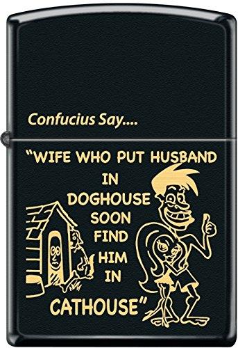 Zippo Confucius Say