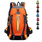 40L Large Capacity Hiking backpack for Men and Women, Outdoor Breathable Waterproof Backpack, Hiking Daypack (orange)