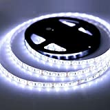 Kitchen Bar and Restaurant Waterproof LED Strip Lights, 5M/16.4ft 5050 SMD 300 LED Flexible Light Strip for Kitchens, Bedroom, Home Led Lighting Bars, Restaurants, Christmas Lighting (Cold White, 5050)