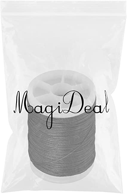Black White MagiDeal 110m Strong Pull Archery Fiber Bow String Serving Thread Bowstring Protector for Bow Strings