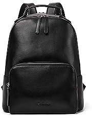 BOSTANTEN Ladies Genuine Cow Leather Backpack Rucksack 14 inch Laptop Daypack Multifunction Shoulder Bag