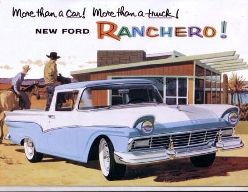 (1957 FORD RANCHERO FULL COLOR DEALERHIP SALES BROCHURE - Includes Standard Ranchero and Custom Ranchero - ADVERTISMENT - LITERATURE 57)