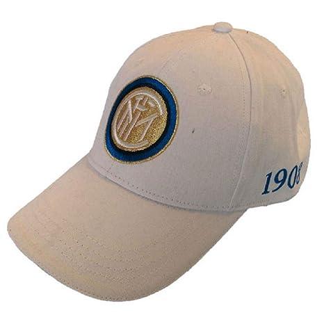 F.C.Internazionale Cappello Inter Cappellino Ufficiale Berretto INTBIANCO022 55bf884fcbdb