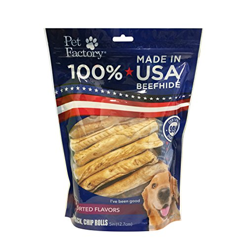 - Pet Factory 78109 100% American Beefhide Assorted Flavored (Beef & Chicken) 5
