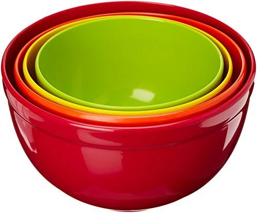 (Zak Designs Bistro Schüsselsatz Set of 4 in Gift Box hot pop 22-16 cm)